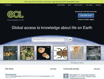 eol.org screenshot