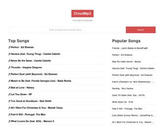 cloudmp3.co screenshot