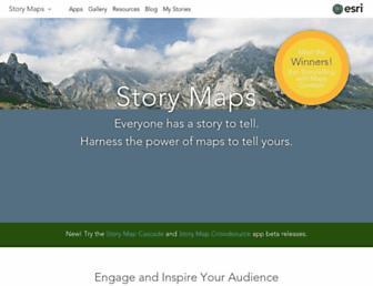 storymaps.arcgis.com screenshot