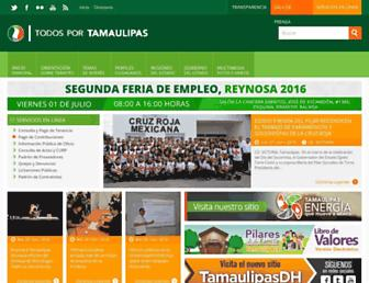 Main page screenshot of tamaulipas.gob.mx
