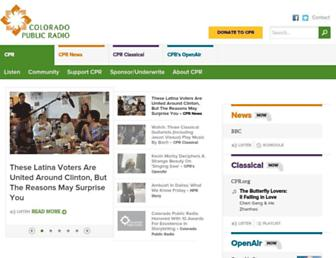 Main page screenshot of cpr.org