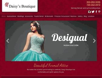 daisiysboutiqueandbridal.com screenshot