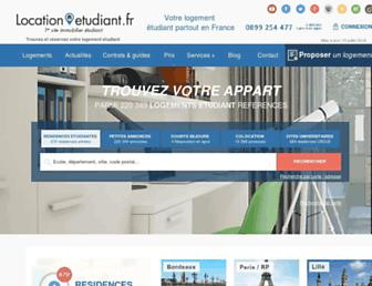 Main page screenshot of location-etudiant.fr