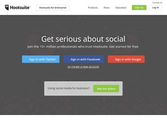 Thumbshot of Hootsuite.com