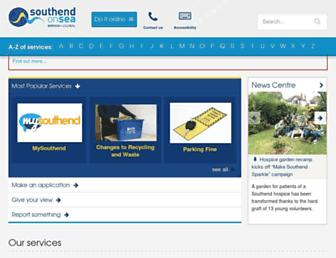 southend.gov.uk screenshot