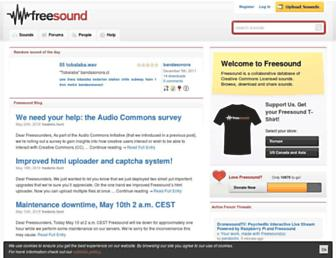 freesound.org screenshot