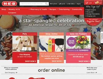 heb.com screenshot