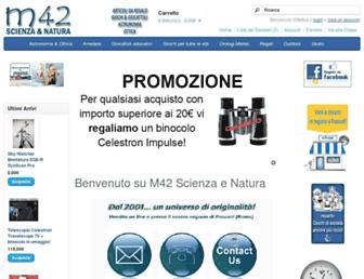 Main page screenshot of m42.it