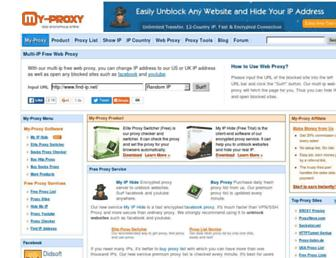 my-proxy.com screenshot