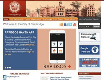 cambridgema.gov screenshot