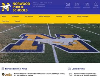 norwood.k12.ma.us screenshot