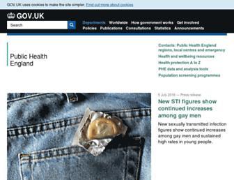 Main page screenshot of hpa.org.uk