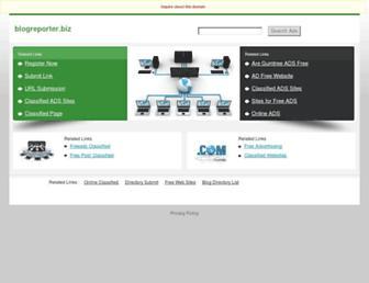Main page screenshot of blogreporter.biz
