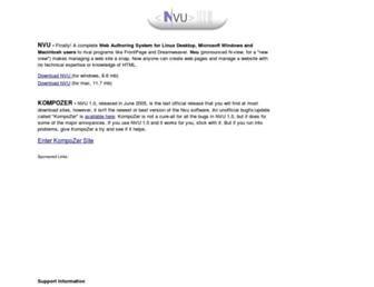 Thumbshot of Nvu.com
