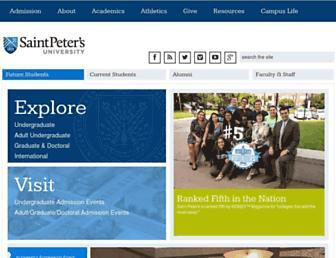 saintpeters.edu screenshot
