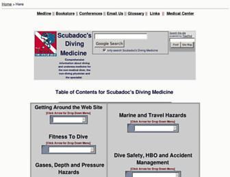 scuba-doc.com screenshot