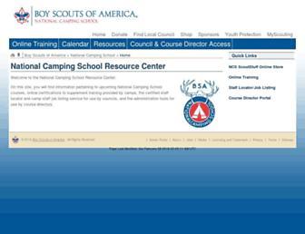 ncsbsa.org screenshot