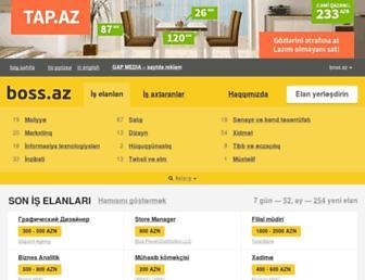 Main page screenshot of boss.az