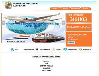 koperasi.bappenas.go.id screenshot