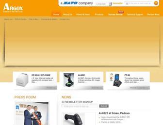 argox.com screenshot