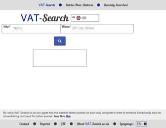 vat-search.co.uk screenshot