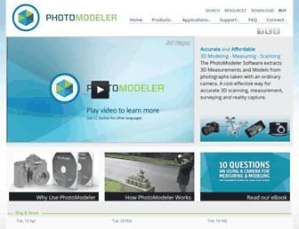 photomodeler.com screenshot