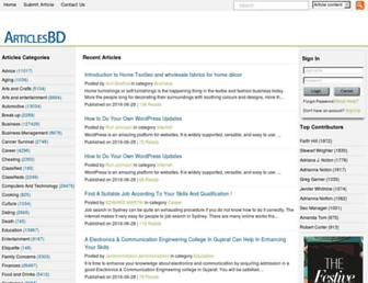 Thumbshot of Articlesbd.com