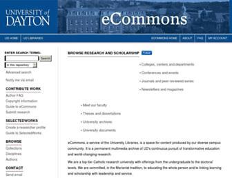 ecommons.udayton.edu screenshot