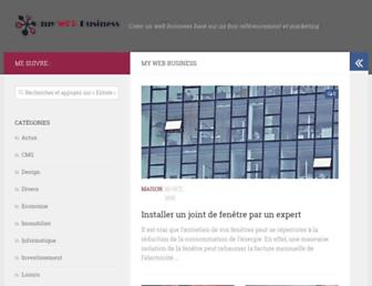 Main page screenshot of mywebbusiness.fr