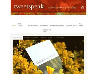 tweetspeakpoetry.com screenshot