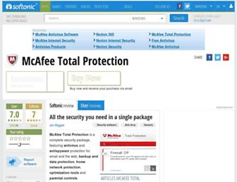 mcafee-total-protection.en.softonic.com screenshot