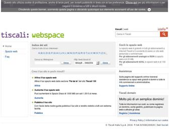 web.tiscali.it screenshot