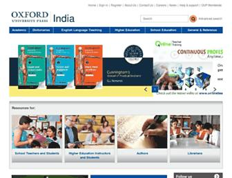 india.oup.com screenshot