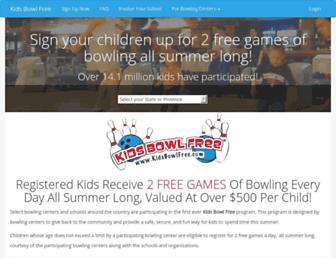 Thumbshot of Kidsbowlfree.com