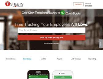 tsheets.com screenshot