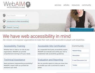 webaim.org screenshot