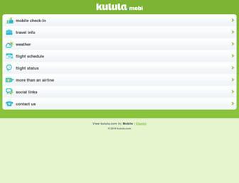 Main page screenshot of kulula.mobi