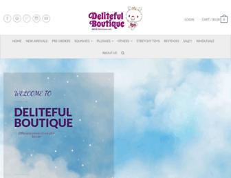 delitefulboutique.com screenshot