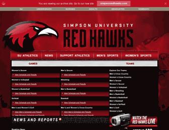 athletics.simpsonu.edu screenshot