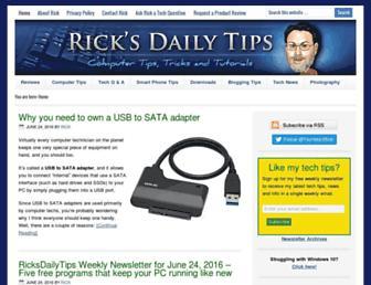 ricksdailytips.com screenshot