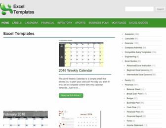 exceltemplates.net screenshot