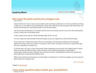 Main page screenshot of laughingmeme.org