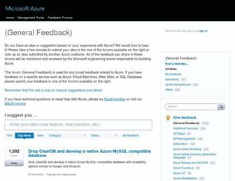 feedback.azure.com screenshot