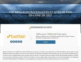 ultimpronos.com screenshot