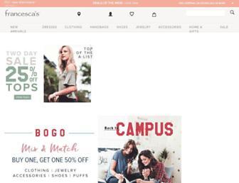 francescas.com screenshot