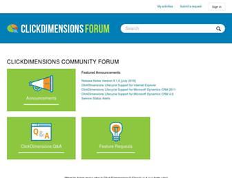 support.clickdimensions.com screenshot