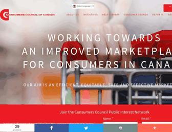consumerscouncil.com screenshot