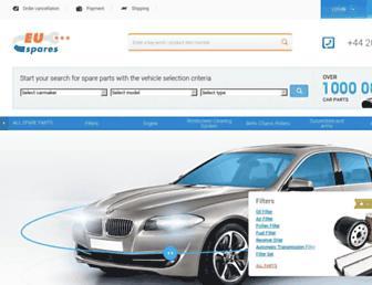 euspares.co.uk screenshot