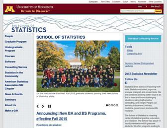 stat.umn.edu screenshot