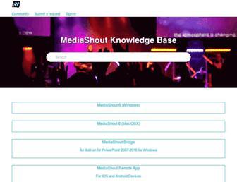support.mediashout.com screenshot